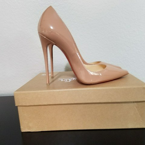 b3a44b65ded5 Christian Louboutin So Kate heels. Nude. European Size 39. a - Depop