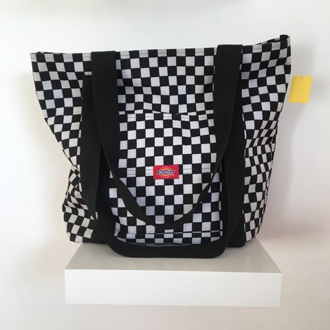 Dickies monochrome checker tote Black and white gently worn ... 14a754d379eb2
