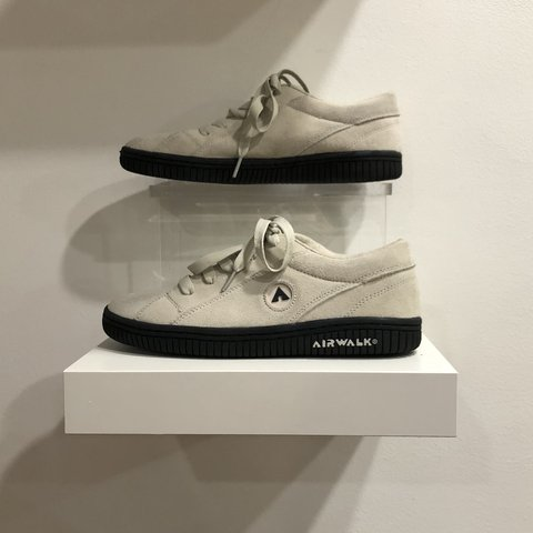 656508c91b00 🛒 The Airwalk Shoes Brand new   unworn White suede   sole - Depop