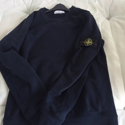 af5f093d Stone island blue sweat shirt Going cheap Perfect - Depop