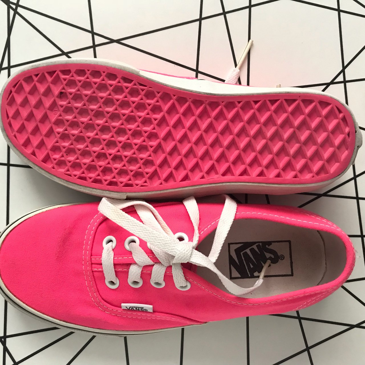 9e5a9cf392e Vans- hot pink authentic shoes These were barely worn. In 6 - Depop