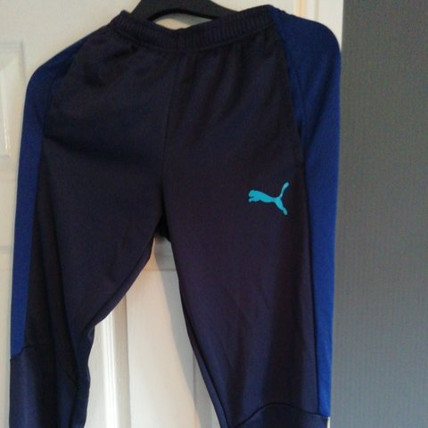 d94243ee600e Dark blue puma tracksuit bottoms Size small Good condition - Depop
