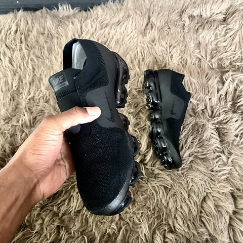 9c846f1f4aae6 Nike Air Vapormax Flyknit MOC Triple Black   Sold out. UK - Depop