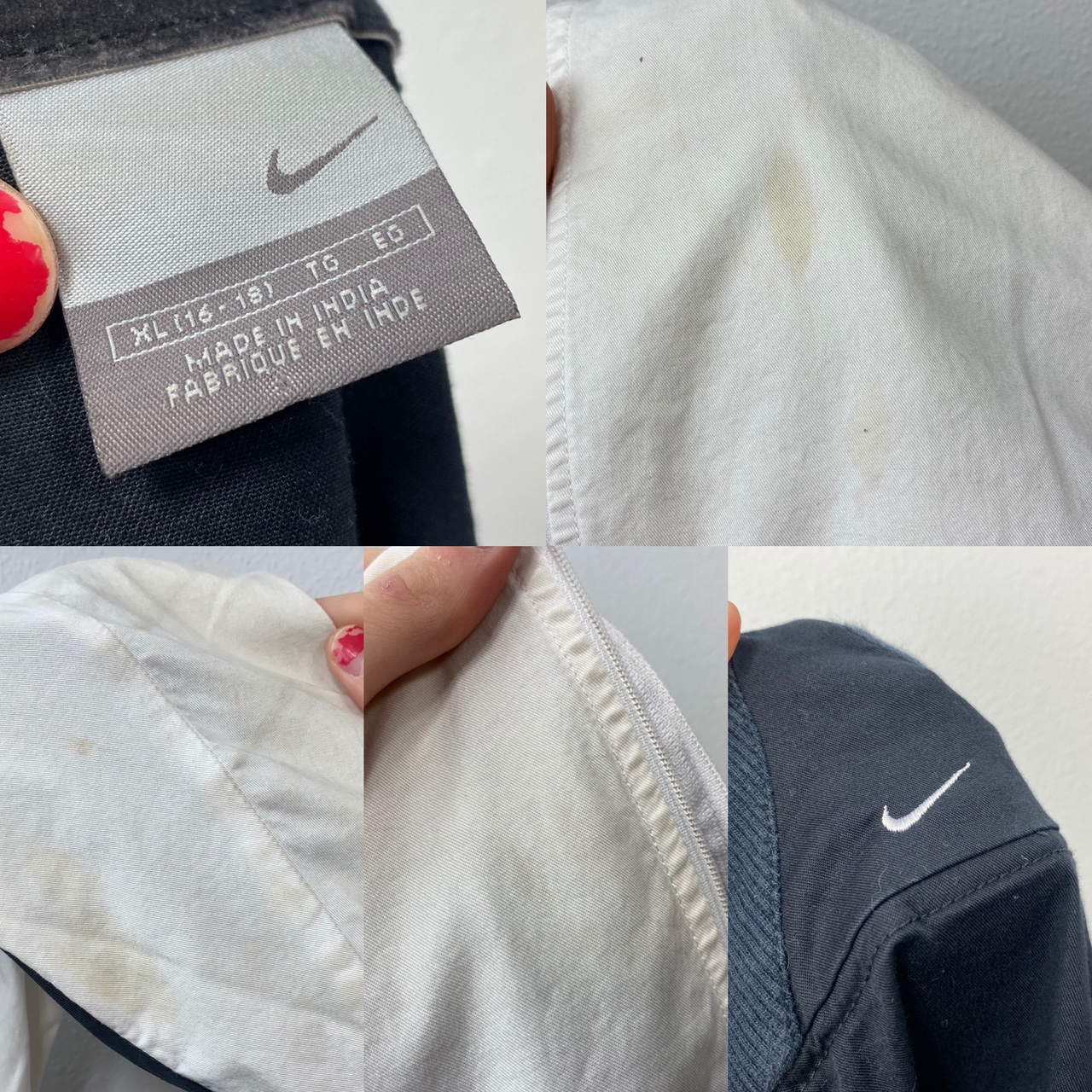 • mid 2000's zip up NIKE white grey and