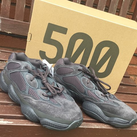 be3b9f53b15e3 Yeezy 500 Utility Black Size 11 UK Purchased from authentic - Depop