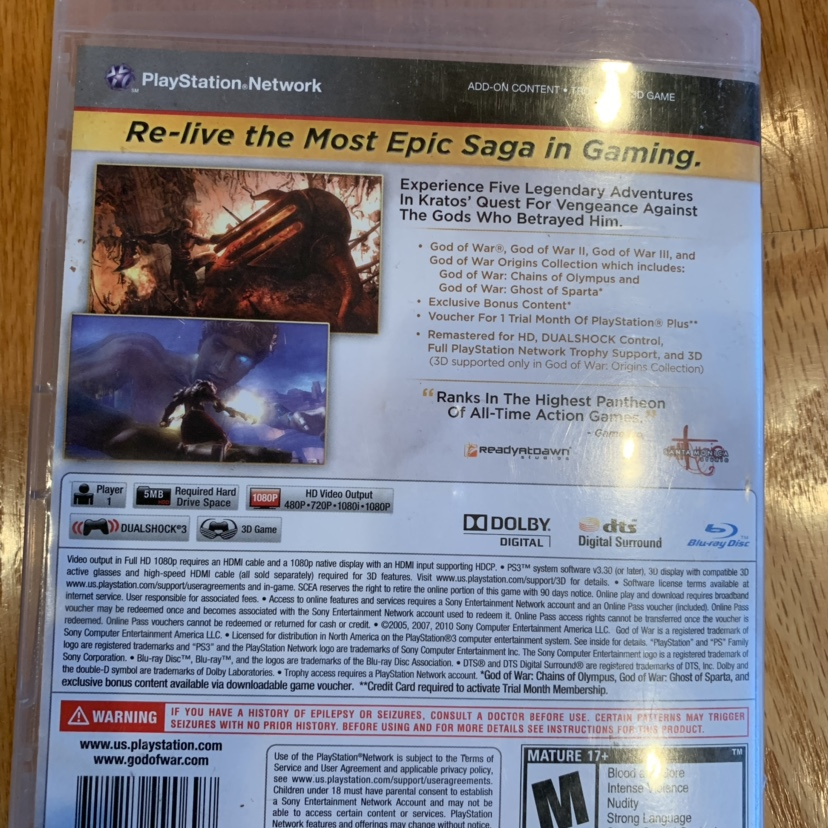 God Of War Ghost Of Sparta Ps3