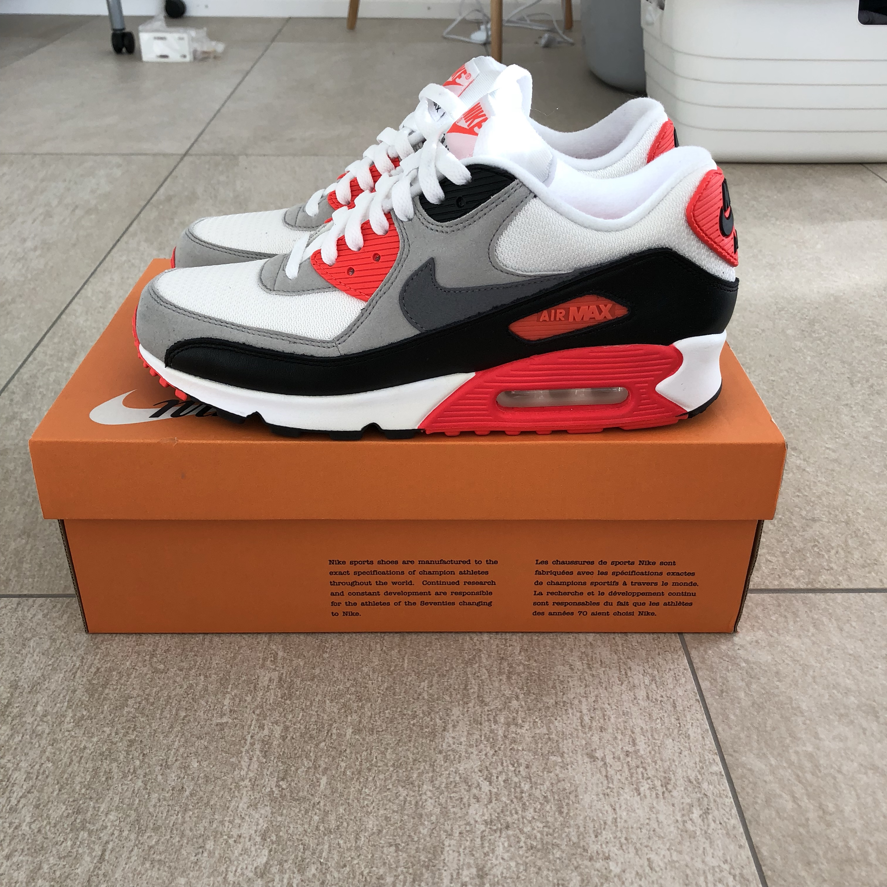 "Nike Air Max 90 ""Infrared"" US9 Condition: DS, Depop"