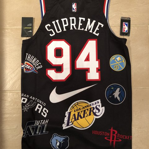 52a96df31 Supreme x Nike x NBA Teams Authentic Jersey SS18   New with - Depop