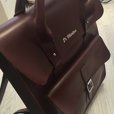 5da1face2 ✨Dr Martens Large Kiev Cherry Red Leather Backpack✨ Very bag - Depop