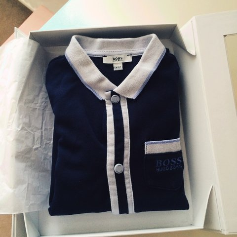 Hugo Boss baby boy romper suit. With original packaging and - Depop bd133a9be