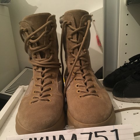6b7a1d0750e5b5 Yeezy season 3 military boot Size UK 7 EU 41. Worn once fit - Depop