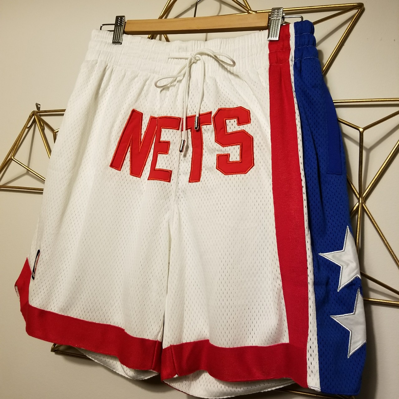 buy popular 8ad60 4108e New Jersey NETS Throwback 90s Basketball shorts Just ...