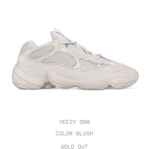41c53578b6a62 Yeezy 500 blush.   Its a pre order and doesnt ship out till - Depop