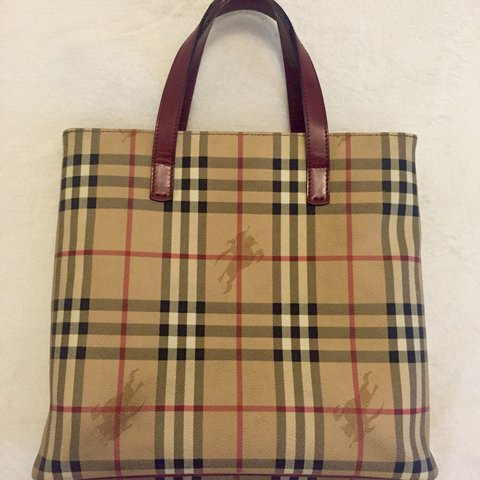 16175001764c 100% AUTHENTIC BURBERRY TOTE HAYMARKET CHECK VINTAGE from - Depop
