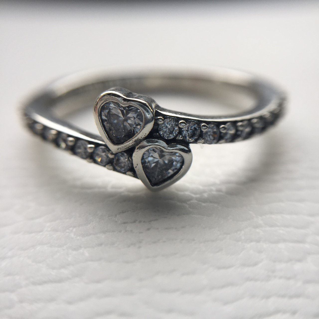 7beb1cca8 @vickysmith_. 2 years ago. Cossall, United Kingdom. Forever hearts Pandora  ring, size 56. Excellent condition as its brand new ...