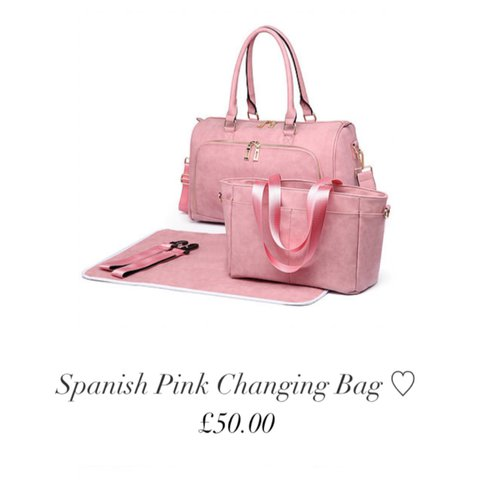 030abca857 Pink Spanish baby changing bag - brand new! Bought as a gift - Depop