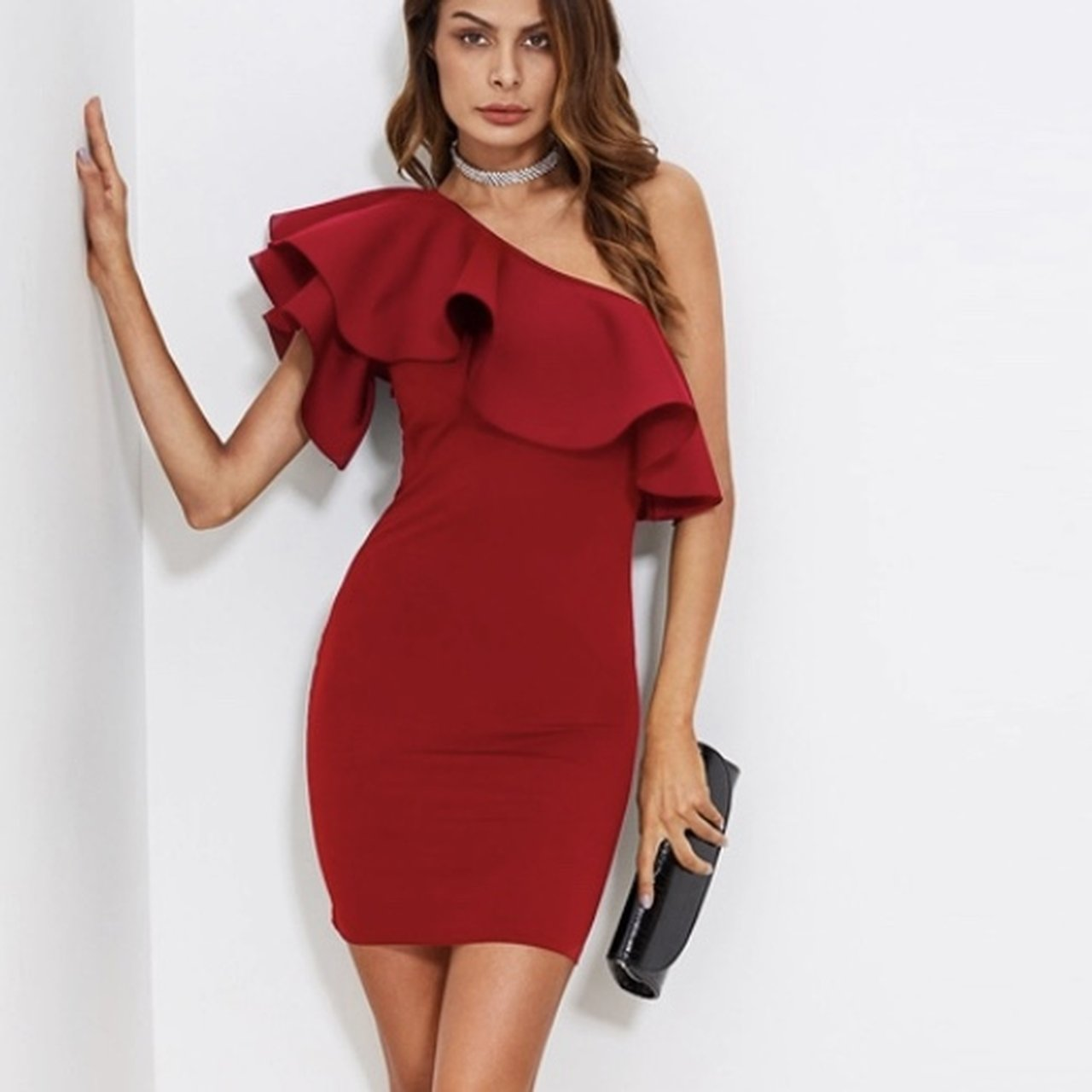 5eb1154383c7 One Shoulder Red Dress – Fashion dresses
