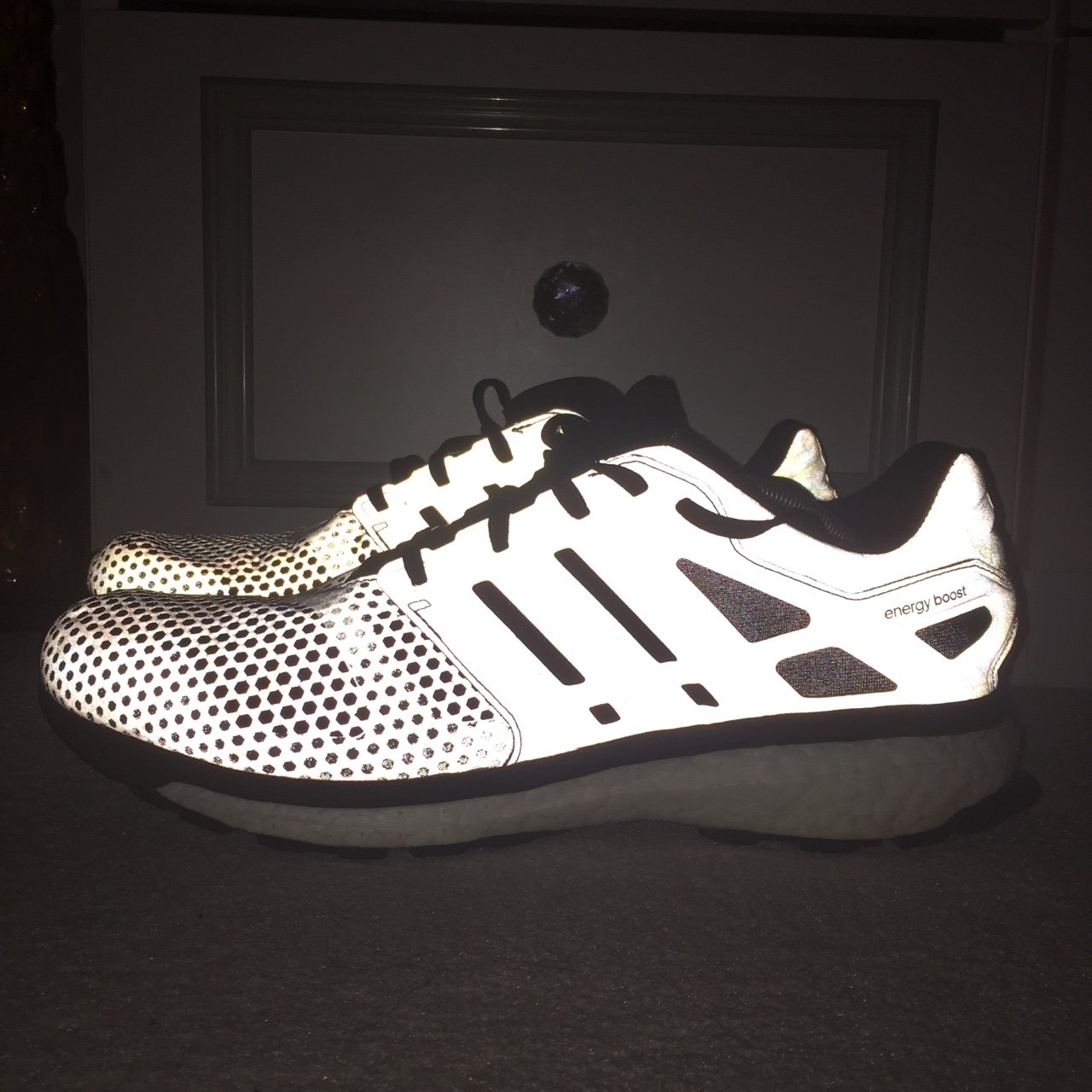 watch 62f39 e6df9 adidas Consortium Energy Boost Glow Zone. Fully reflective -