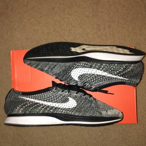 d43cb7532900 Oreo Flyknit racers Size 10.5 8 10 condition Price is BOX - Depop