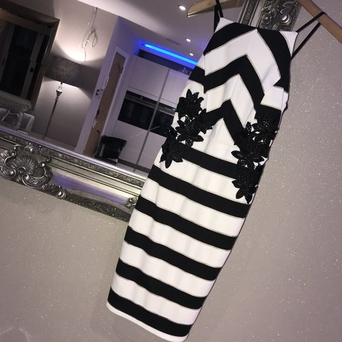 5d7c9b4a6f1 Brand new with tags Lipsy London black and white dress with - Depop