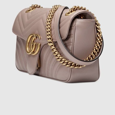 8a8374167f5 Brand new Gucci marmont dusty pink in leather. Original 100% - Depop