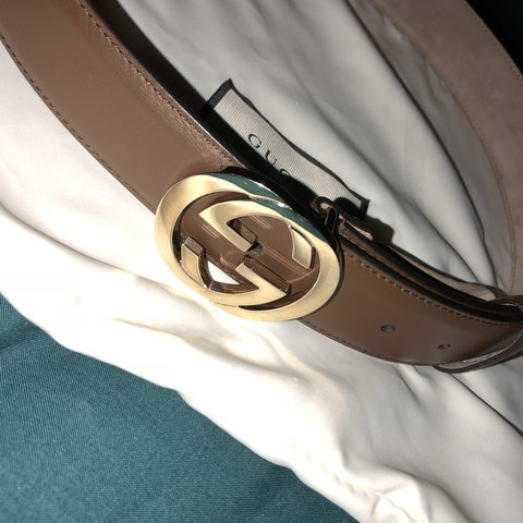 c6f2d6a26ac BRAND NEW brown Gucci belt 💫 never worn it (It was a gift a - Depop