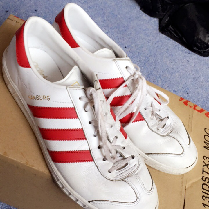 adidas hamburgs red and white cheap online