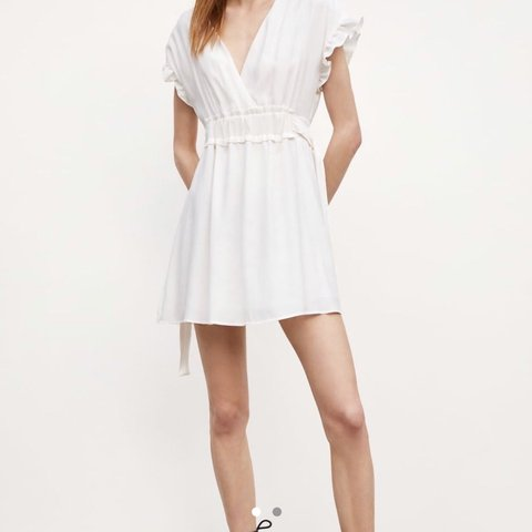 47350ae2 @pippaclare. last month. Swindon, United Kingdom. Brand new with tags.  Current season. Zara white summer dress