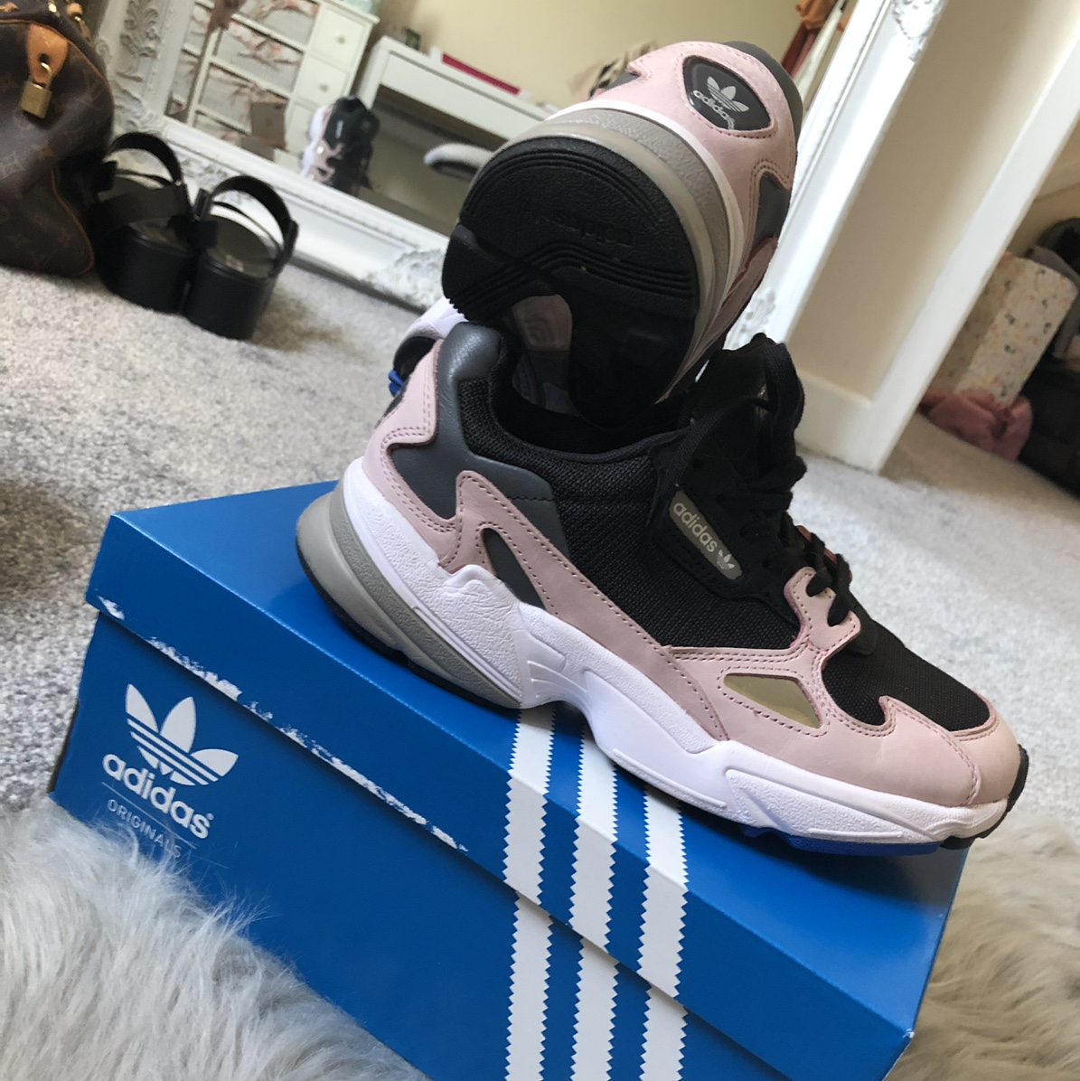finest selection 451d5 f15c8 Kylie Jenner X Adidas Falcon Trainers Barely worn -... - Depop
