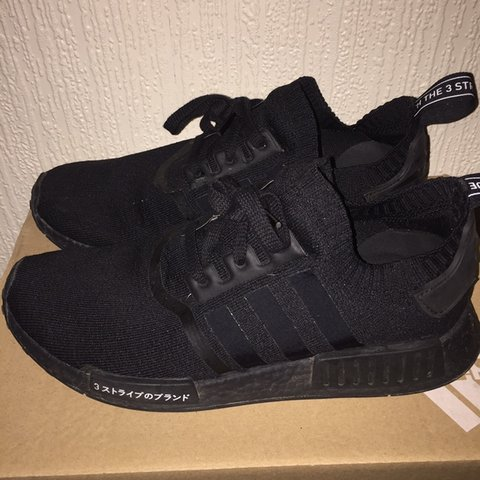 f237da840 Adidas NMD Japan triple black Worn but still in very good - Depop