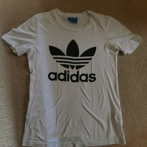 9d7f0189 @lucapasqua. 8 months ago. London, United Kingdom. Plain white adidas tshirt  ...