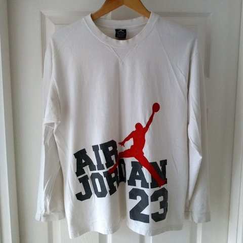 5ed917d39d1 @jonpot. last month. Derby, United Kingdom. Vintage 2003 Nike Air Jordan  Long Sleeved Top