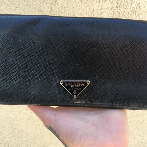 a43ddb0b1a047c REAL, 100% authentic leather Prada wallet. Made in Italy. A - Depop