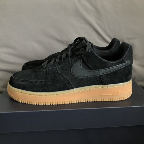 competitive price 65749 24de5  maisyfelstead. 9 months ago. London, United Kingdom. Nike Air Force 1  07  LV8 black suede with gum sole