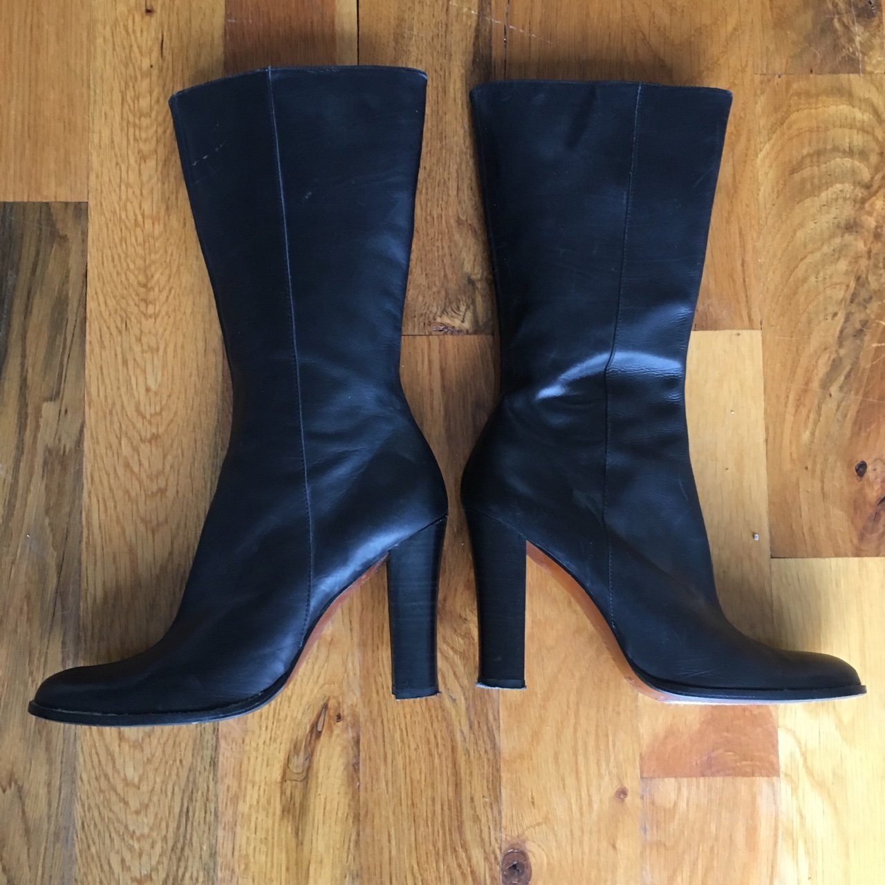 23d202ba897e  chrisflune. 4 months ago. United States. Buttery soft leather boots by Bebe  - size 8 matte black leather