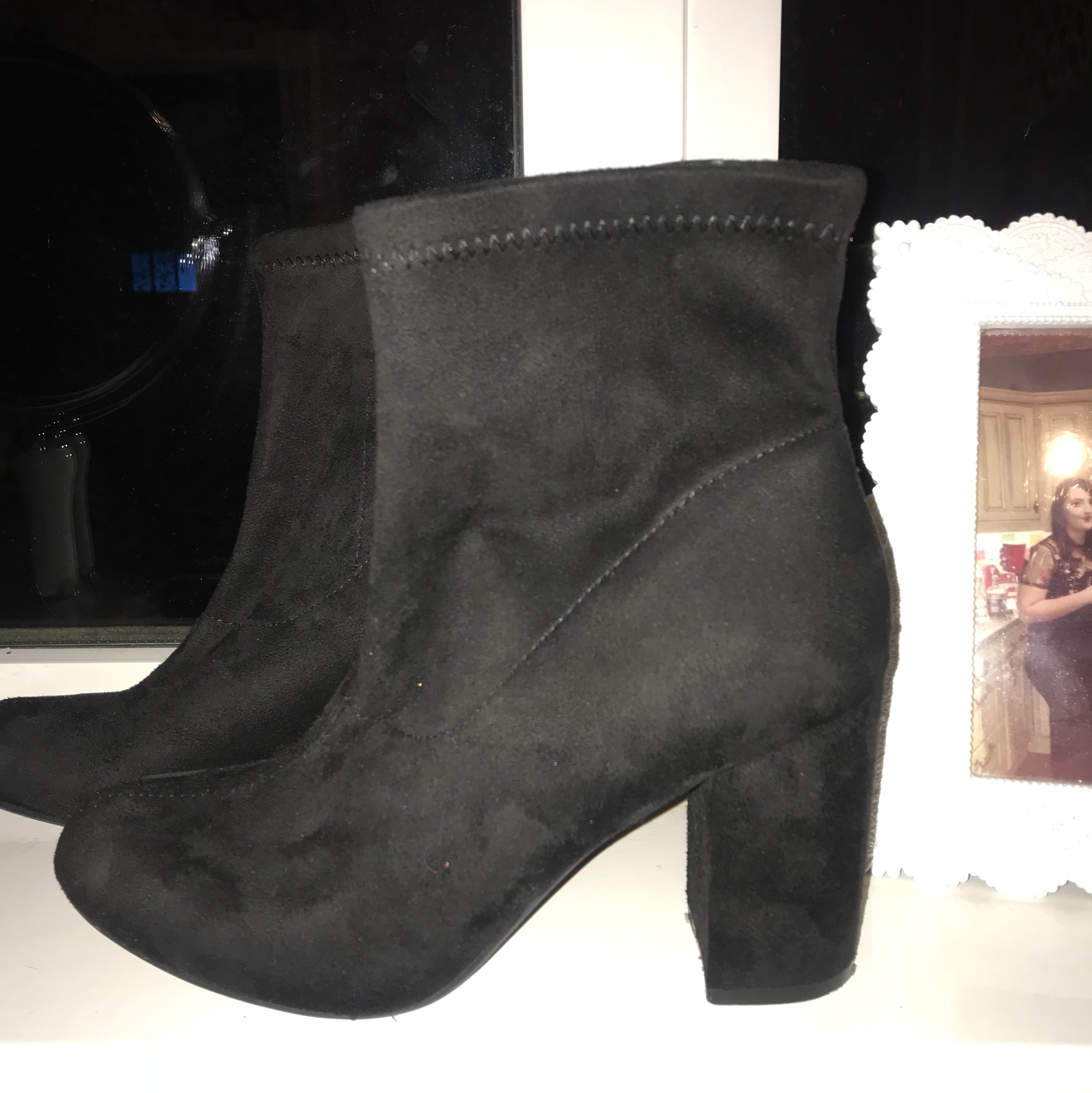 Tesco suede ankle boots Worn once - Depop