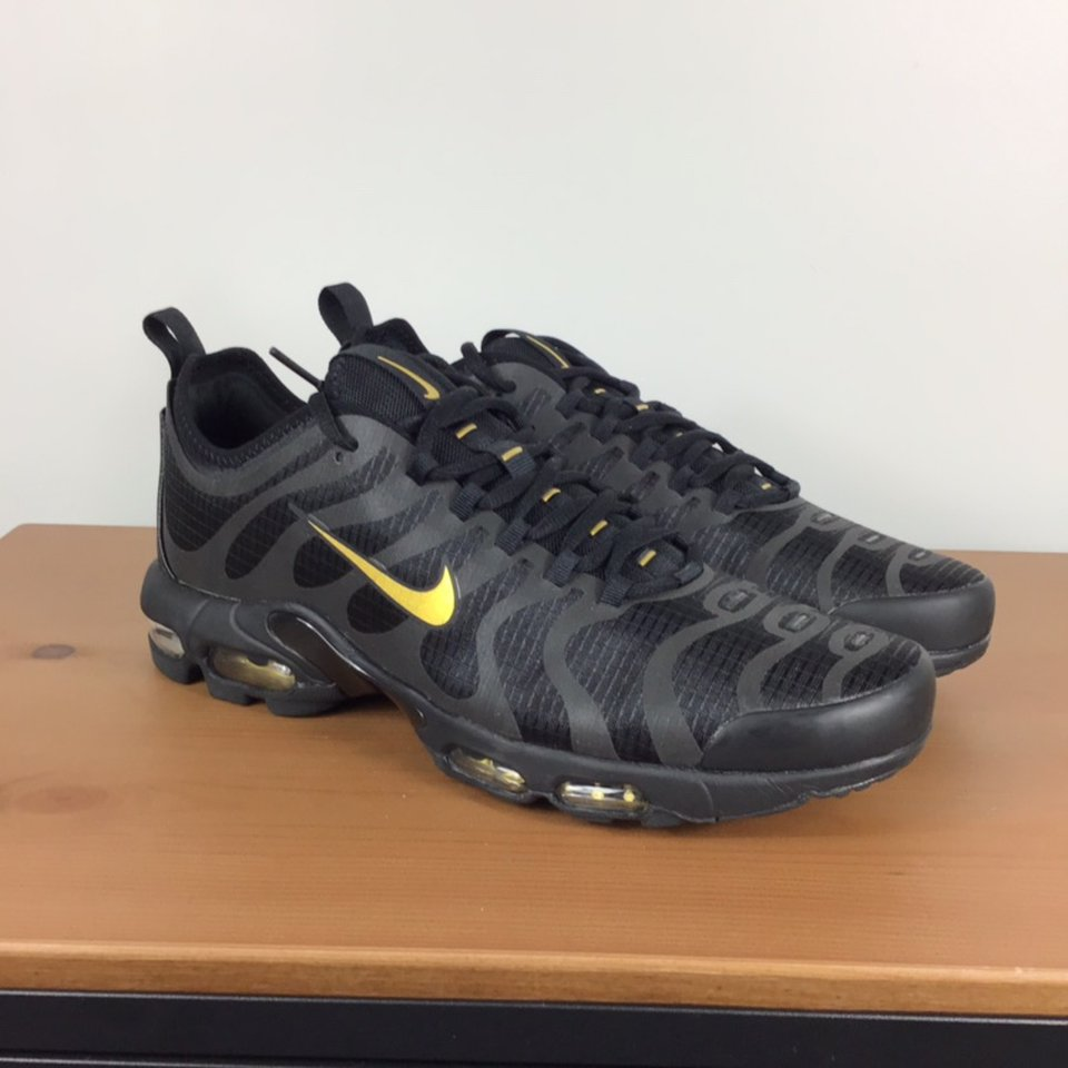 Nike Air Max plus TN Ultra blackgold. Size U.K. 9 Depop