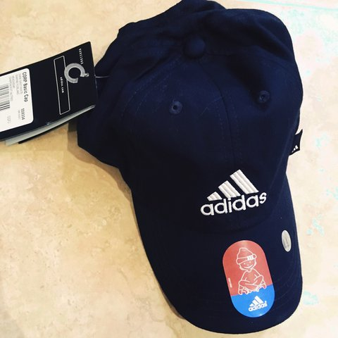 6c2ba9d76a5 Kids Junior Adidas Cap Size-OSFJ I would say age 4-8  Navy - Depop