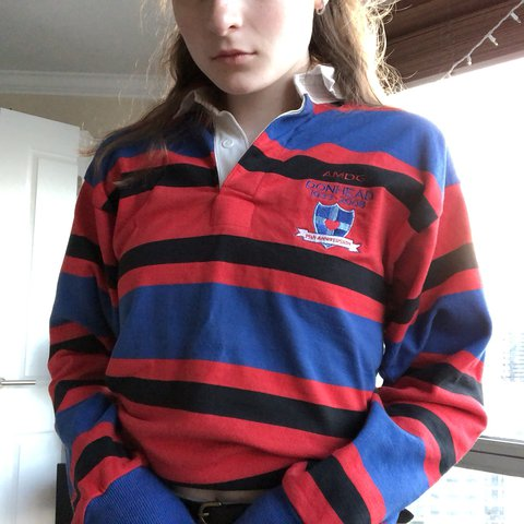 b60704524eb @sophie_elm. last year. Chicago, United States. ☎ UNISEX STRIPED VINTAGE  STYLE RUGBY SHIRT☎ Great condition! No flaws.
