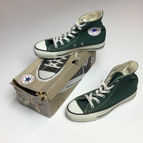 a33193f28120 Deadstock 90s Made in USA CONVERSE CHUCK TAYLORS! These 30 - Depop
