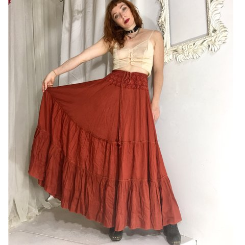 204d460ad63c @marymilk. 11 months ago. Baltimore, United States. Beautiful tiered maxi  skirt ...