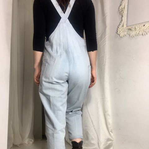 a9650adcd0b0 Cutest vintage 80s overalls with a darling triangular pocket - Depop