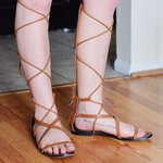 64797a4601a Size 8 American eagle brand sandals. They wrap around your a - Depop