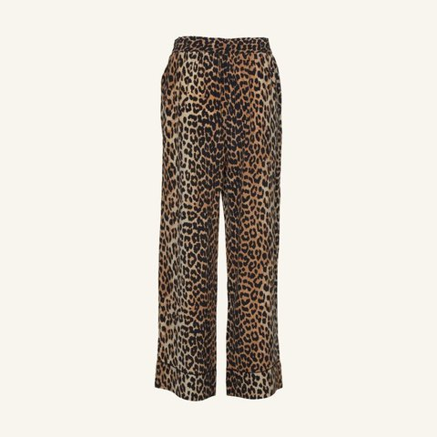 df8acf8f2e61 Pull-on pants from Ganni in Leopard. Semi-sheer fabric. Mid - Depop
