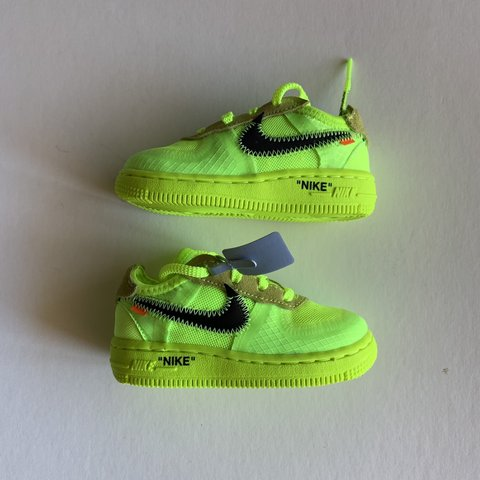 6c10e4157e0905 Brand new Nike Off White Air Force 1 Volt TD in size 6C. any - Depop