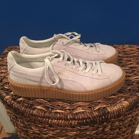7bc24471d644b8 RIHANNA FENTY WHITE OATMEAL CREEPERS. Worn once and in great - Depop