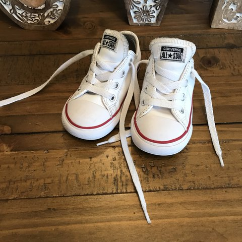 Unisex toddler converse size 7. Leather and in fab 💞. - Depop 1db929bc0