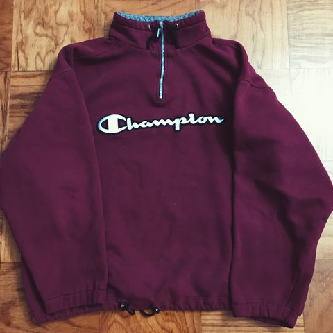 Zip Sweater Champion Pull Quarter With Depop Over Vintage D2IYW9EH