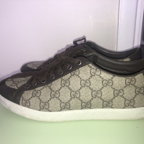f09ab3e13bb Authentic women s Gucci trainers UK size 5. Worn a handful - Depop