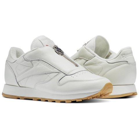 506fa70877c  hannahbradley . 2 months ago. United Kingdom. Reebox Womens Classic Leather  Zip Trainer in Chalk White with Gum Sole